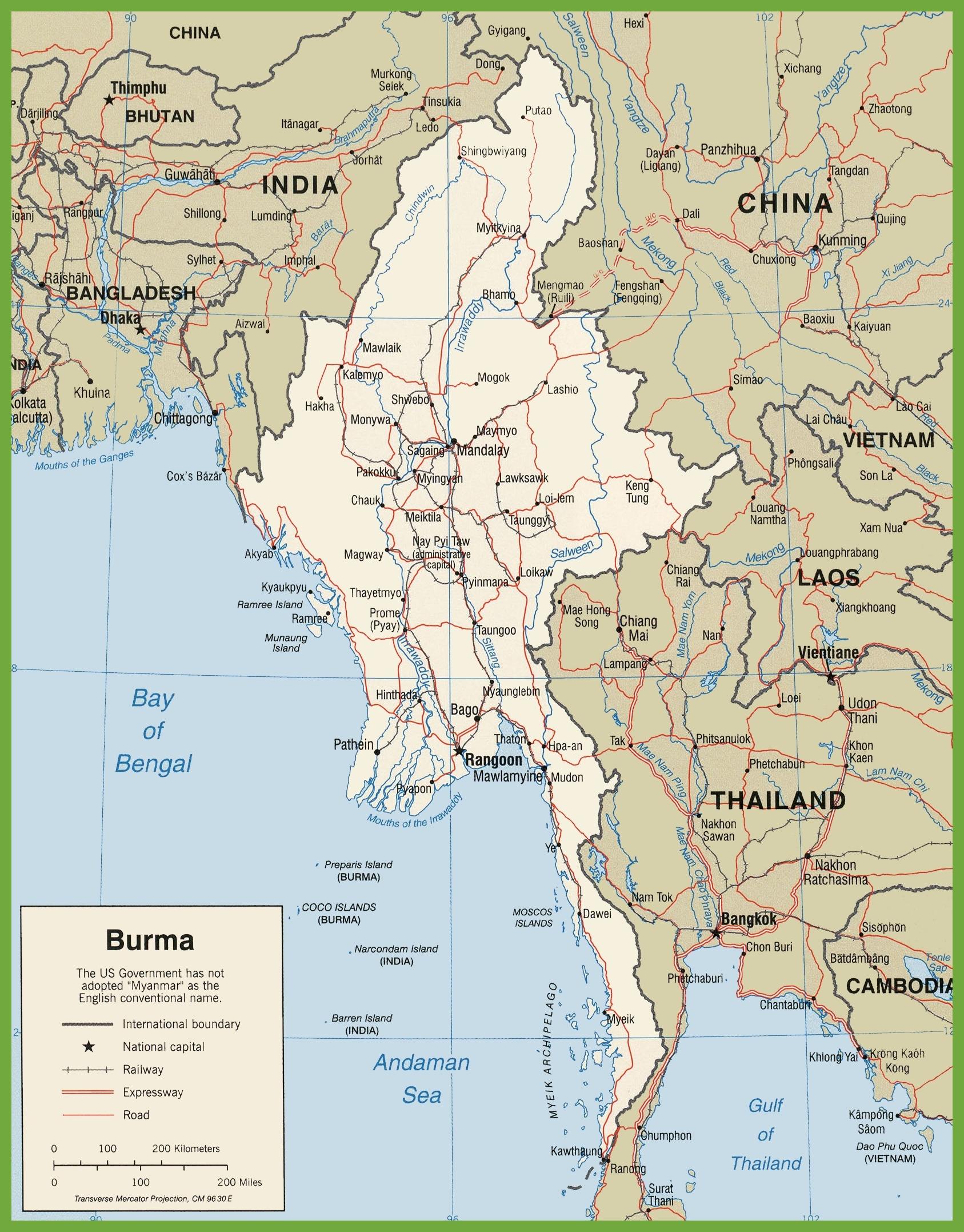 Burma Maps Maps Of Burma Myanmar - Burma map