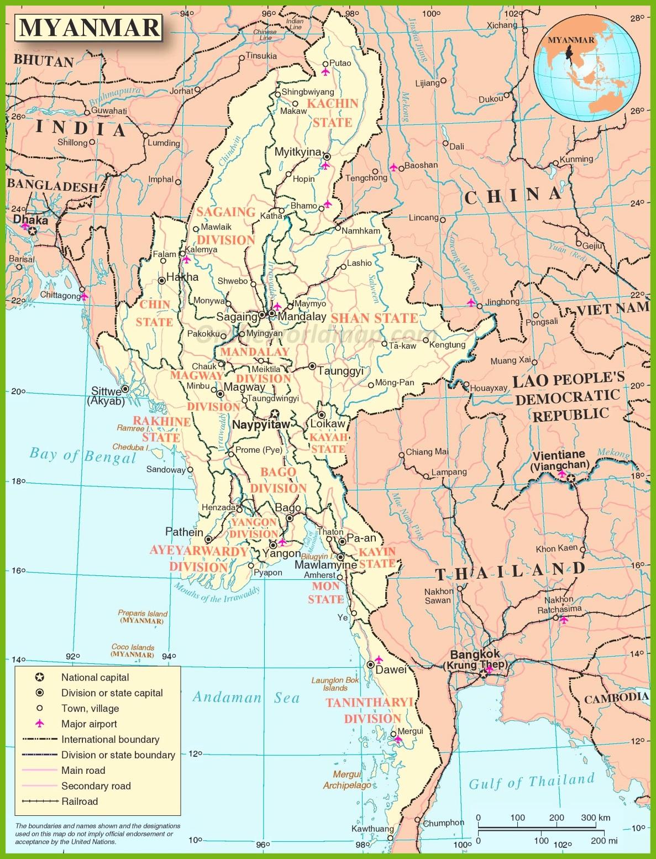 Burma Maps | Maps of Burma (Myanmar)