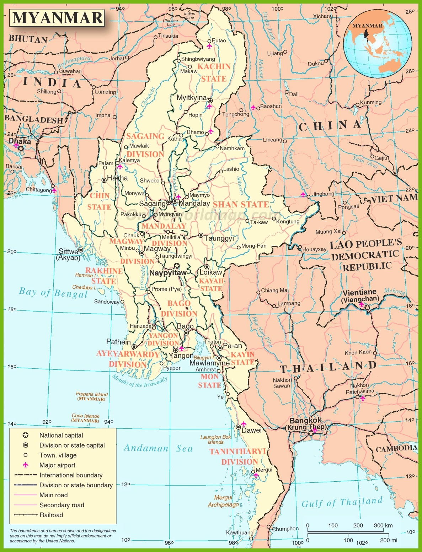 Burma maps maps of burma myanmar large detailed map of burma gumiabroncs Gallery