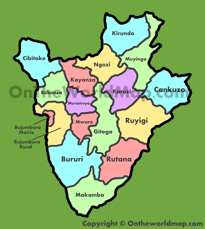 Administrative Map Of Burundi
