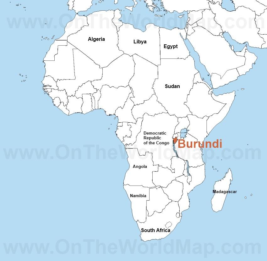 Burundi Africa Map UAZ