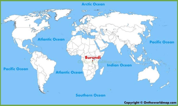 Burundi location on the World Map