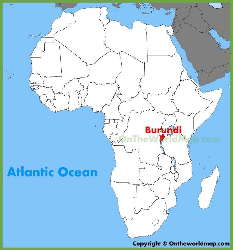 Burundi location on the Africa map