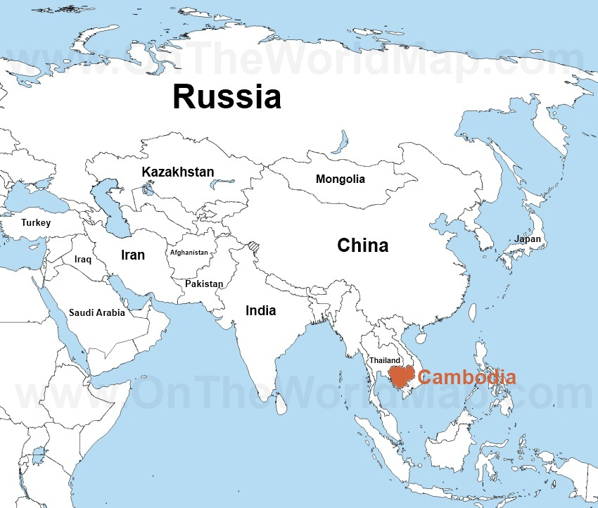 Cambodia World Map Timekeeperwatches - Where is cambodia