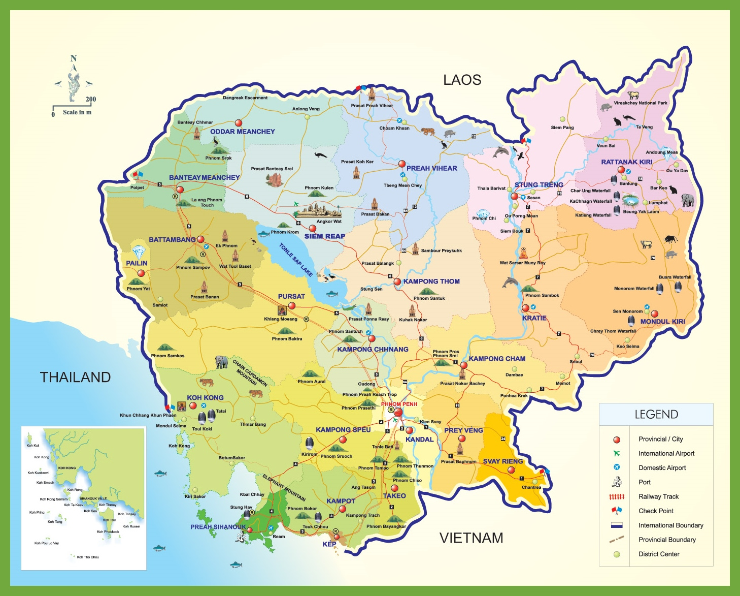 Cambodia tourist map cambodia tourist map gumiabroncs Images