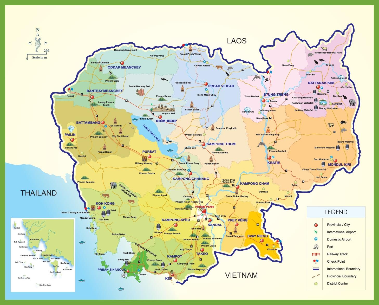 Cambodia Maps Maps of Cambodia