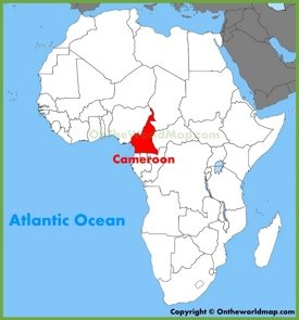 Cameroon location on the Africa map
