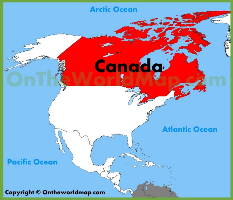 Canada location on the North America map