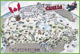 Canada tourist map
