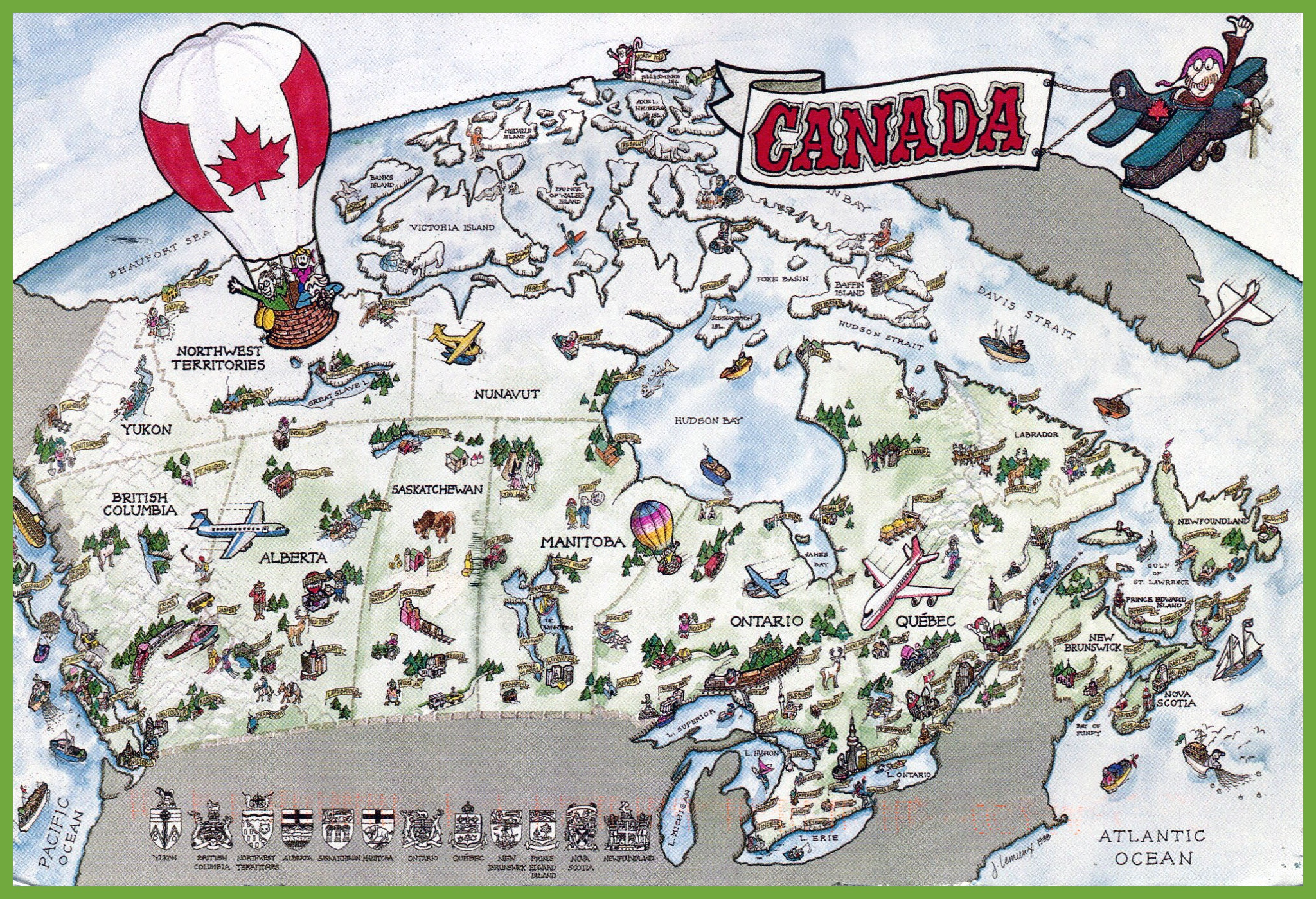 Canada Map Tourist Attractions Canada tourist map