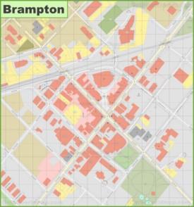 Brampton downtown map