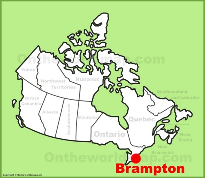 Brampton Location Map