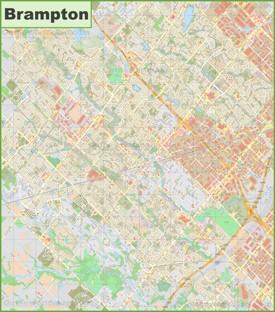 Large detailed map of Brampton