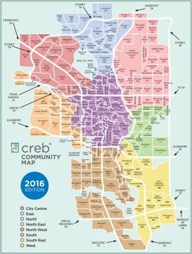 Calgary community map