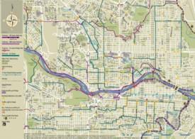 Calgary cycling map
