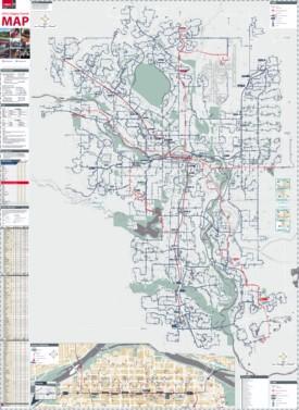 Calgary transport map