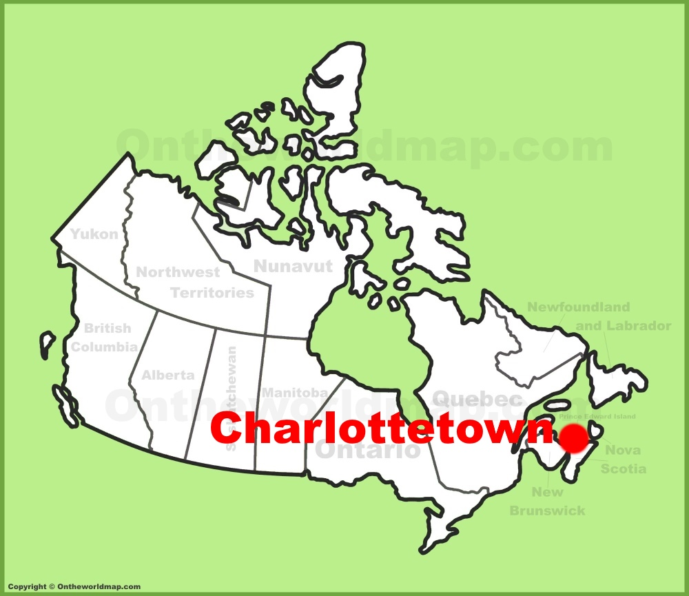 Charlottetown location on the Canada Map