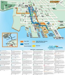 Charlottetown sightseeing map