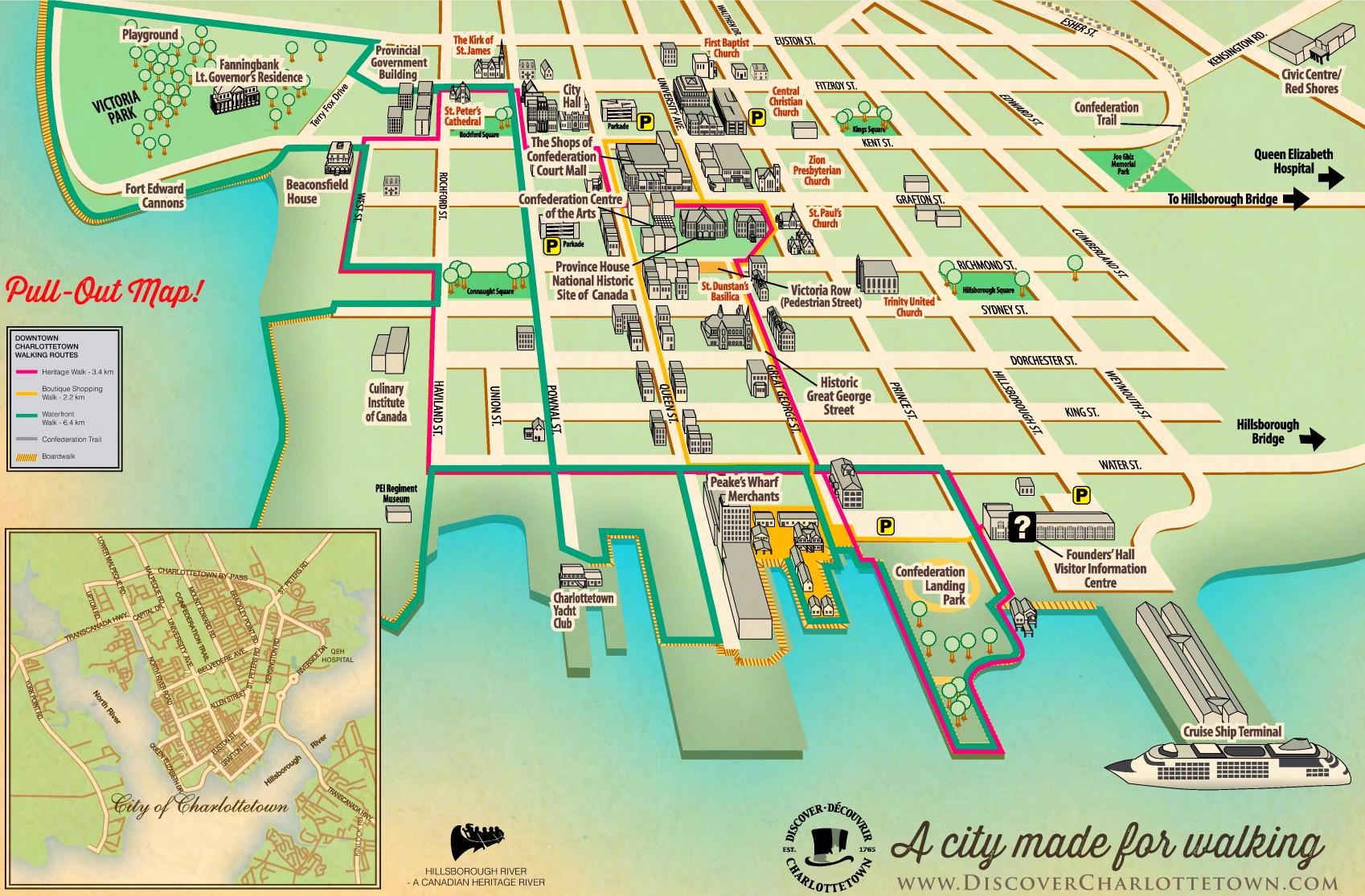 Charlottetown tourist map