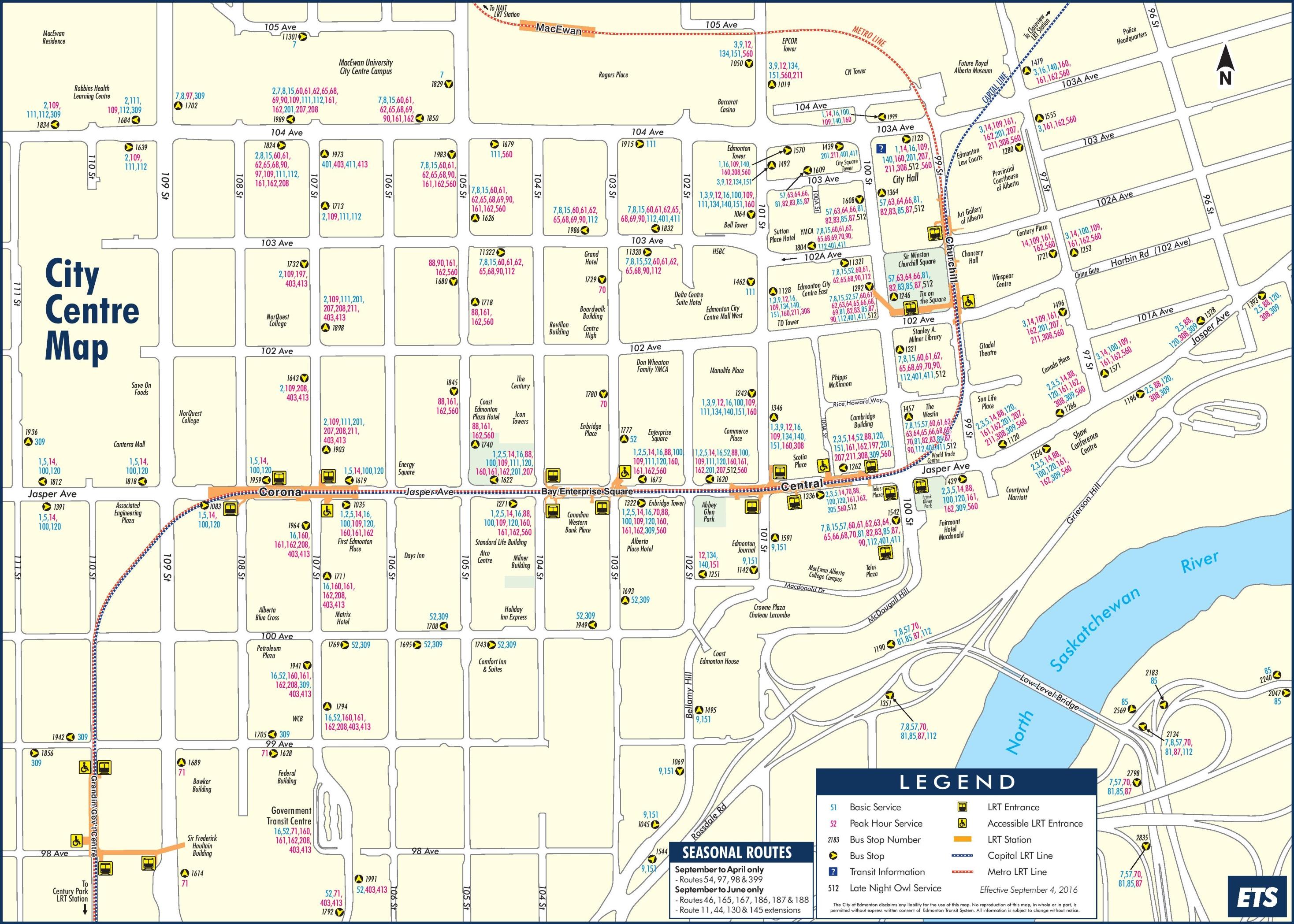 Edmonton City Center Map