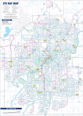 Edmonton transport map
