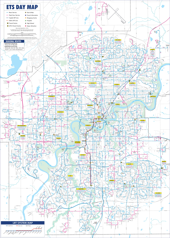 Edmonton: Edmonton Transport Map