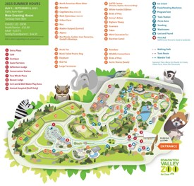 Edmonton Zoo map