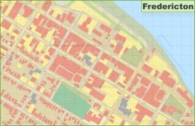 Fredericton downtown map