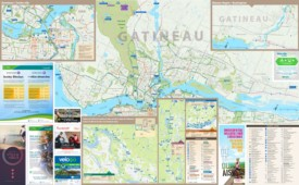 Gatineau cycling map