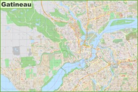 Large detailed map of Gatineau