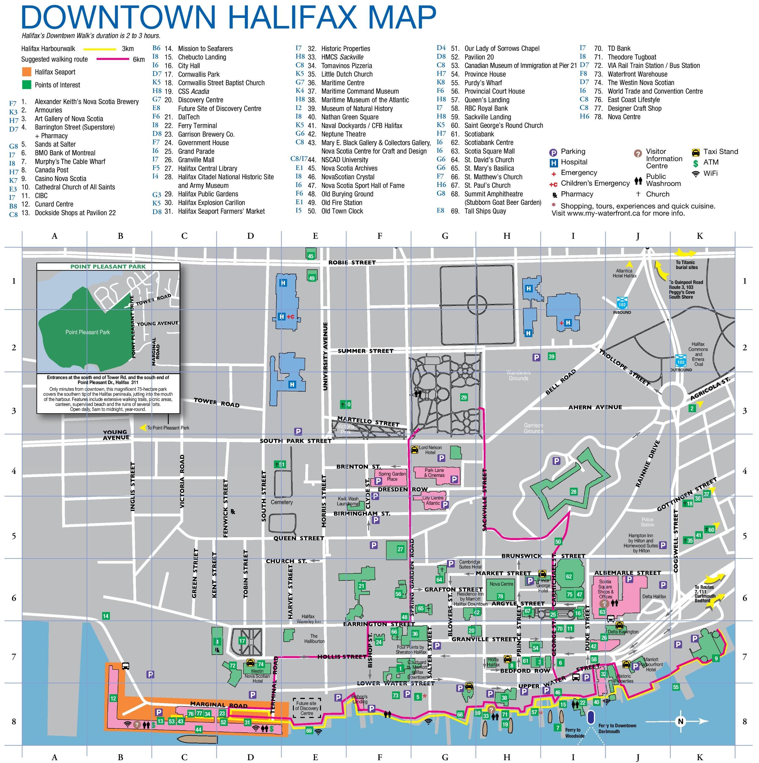Halifax downtown map