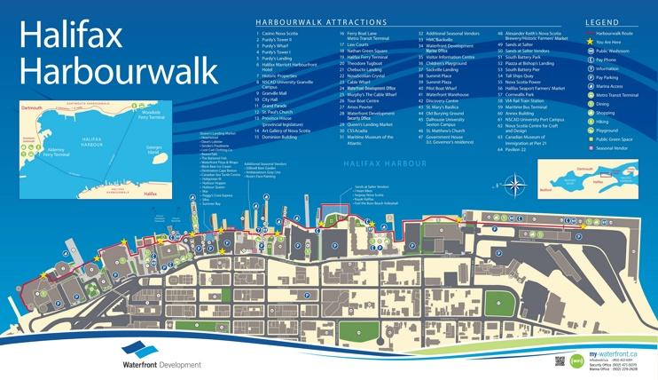 Halifax harbour walk map
