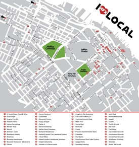 Halifax restaurants map