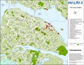 Halifax tourist attractions map