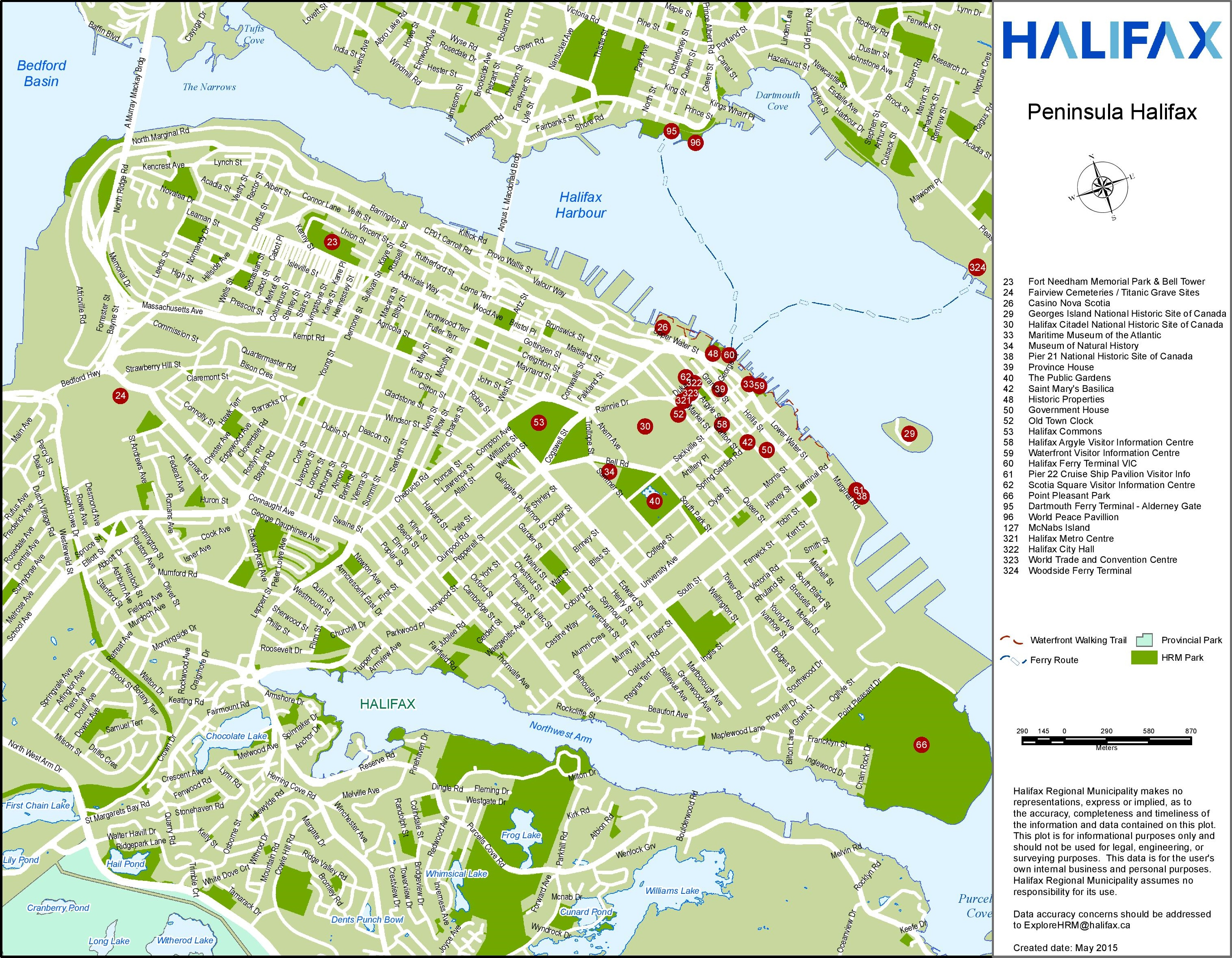 Map Of Halifax Ns Halifax tourist attractions map Map Of Halifax Ns