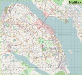 Large detailed map of Halifax