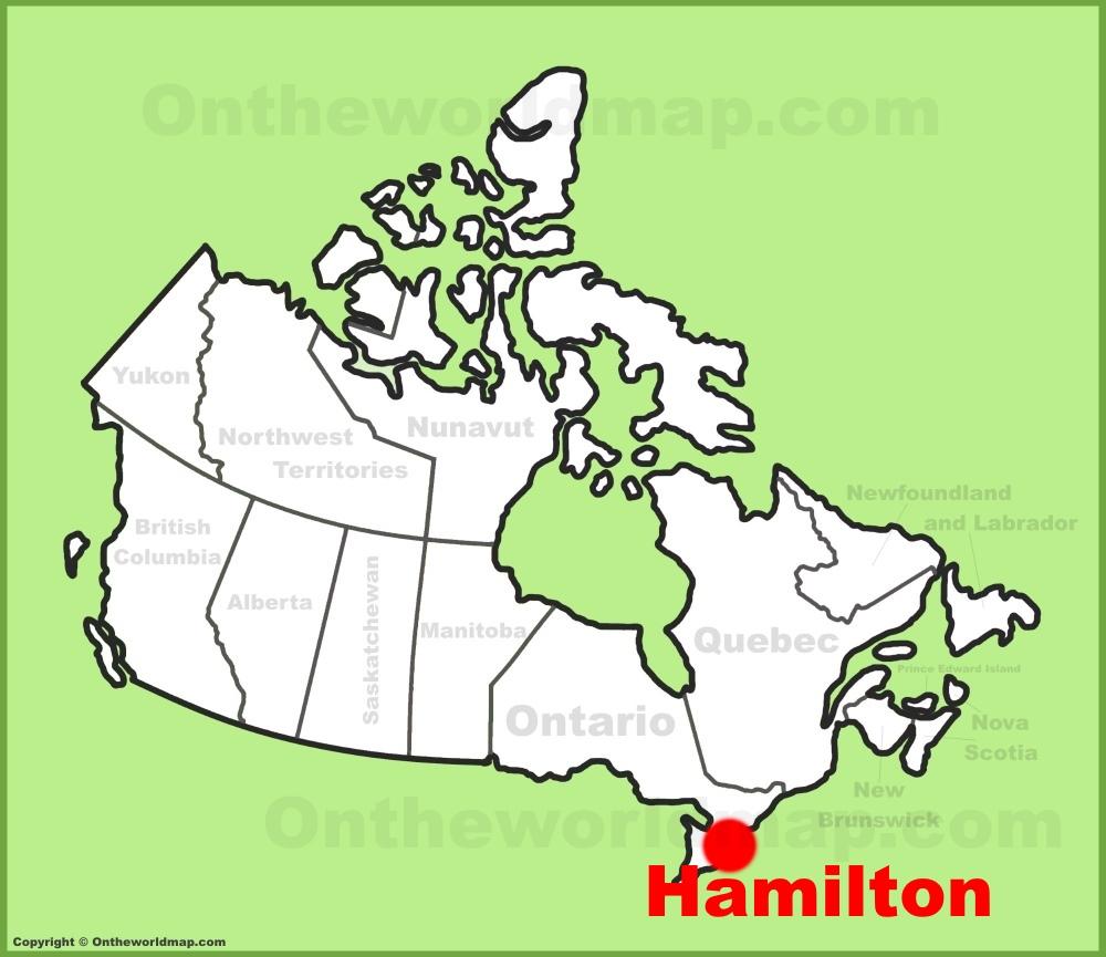 Hamilton Ontario Canada Map.Hamilton Location On The Canada Map