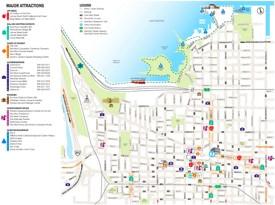 Hamilton tourist map