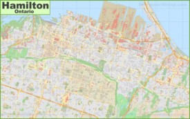 Large detailed map of Hamilton