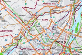 Laval area road map