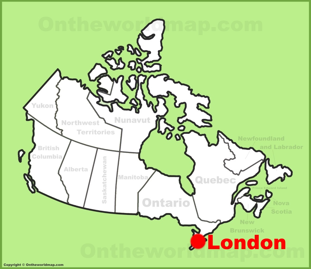 London Map Location.London Location On The Canada Map