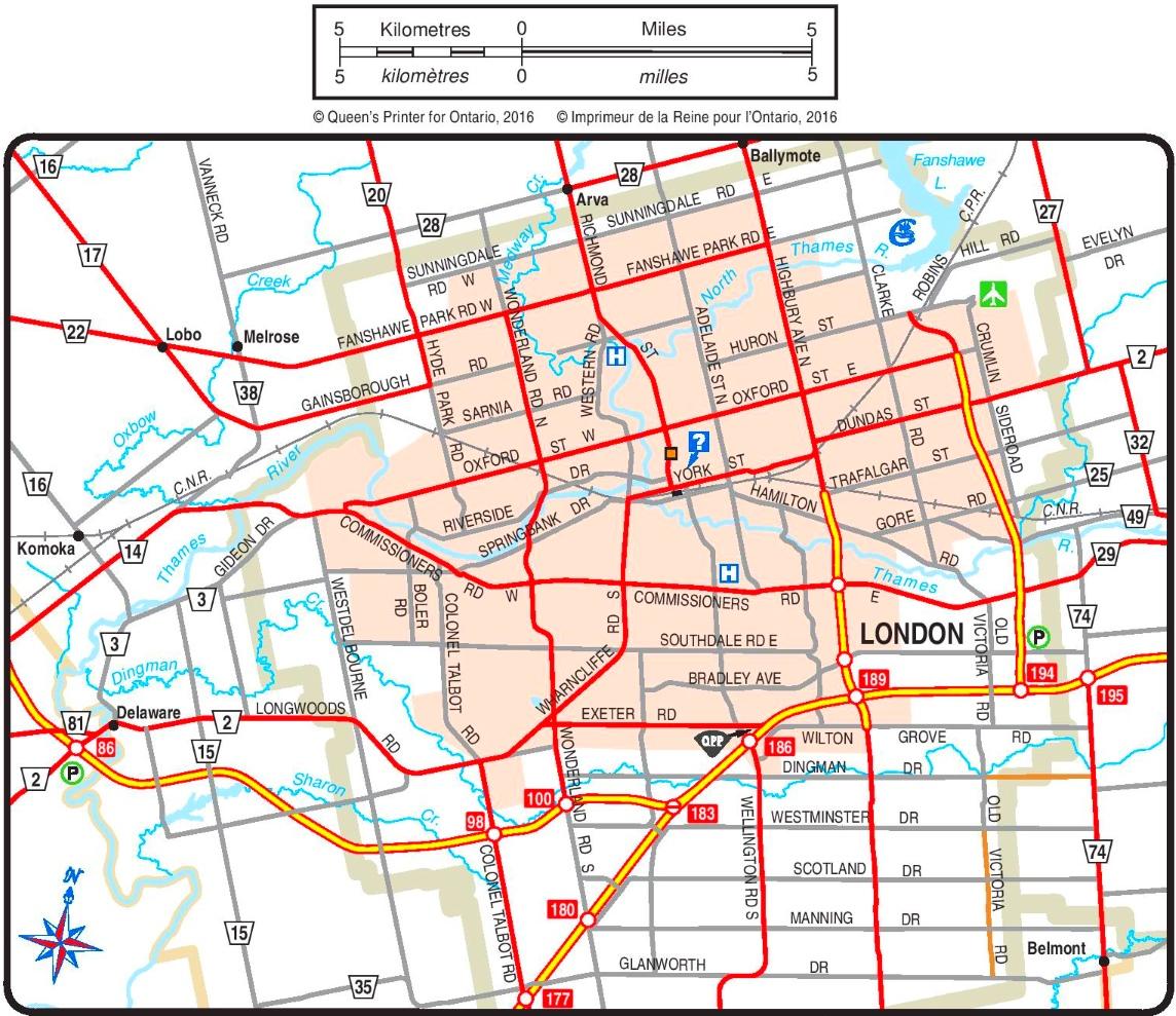 London road map