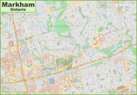 Large detailed map of Markham
