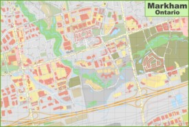 Markham downtown map