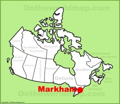 Markham Ontario Map Markham Maps   Ontario, Canada   Maps of Markham