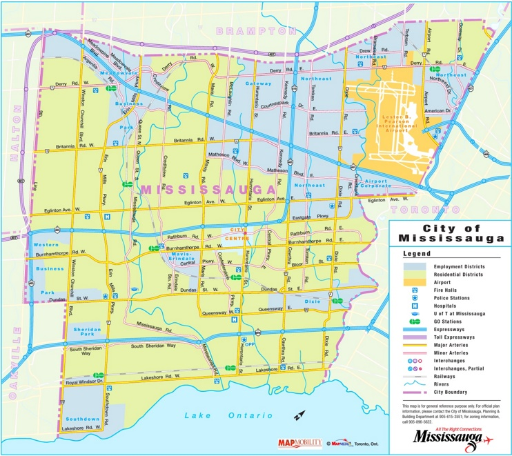 Mississauga road map