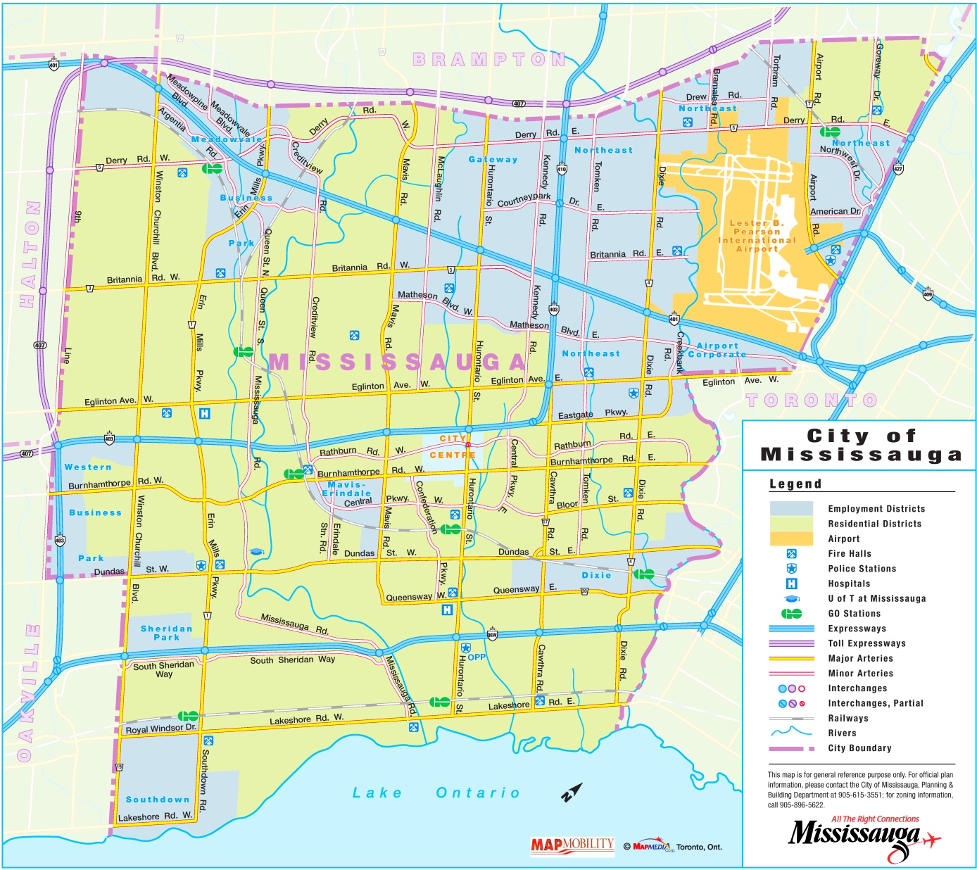 Map Of Mississauga Mississauga road map Map Of Mississauga