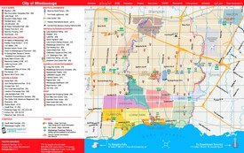 Mississauga tourist map