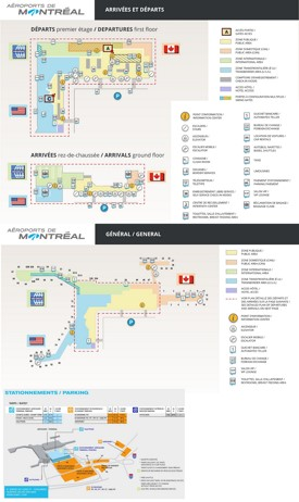 Montreal airport map