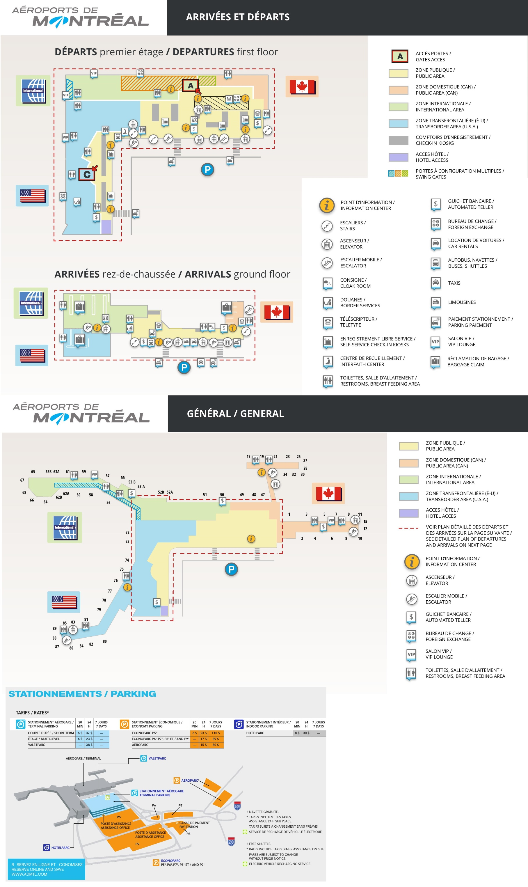 Montreal Airport Map Montreal airport map